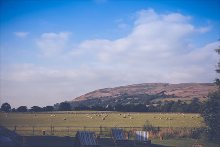 The Clwydian Range from Glan Clwyd Isa Accommodation