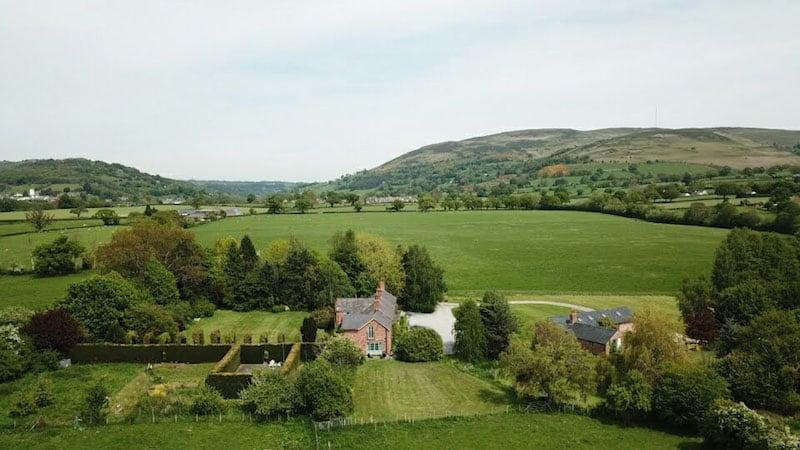 Cae Caled | Glan Clwyd Isa | Self Catering North Wales | Aerial Shot