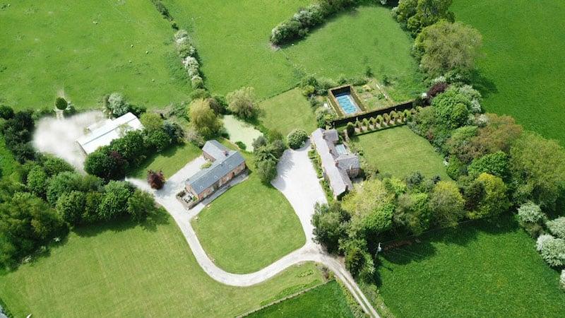 Glan Clwyd Isa | Bed & Breakfast in North Wales | Aerial Shot