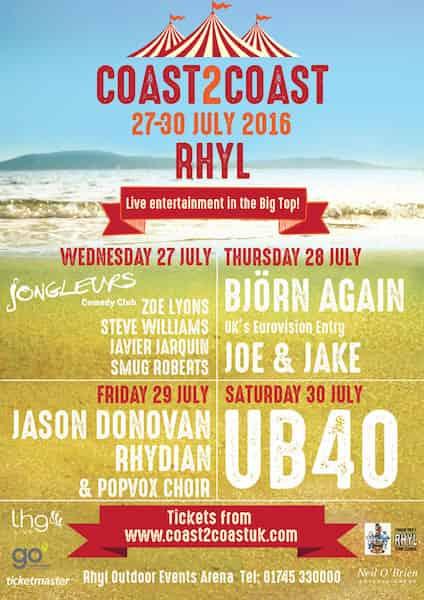 Coast2Coast Festival 2016 Local Accommodation