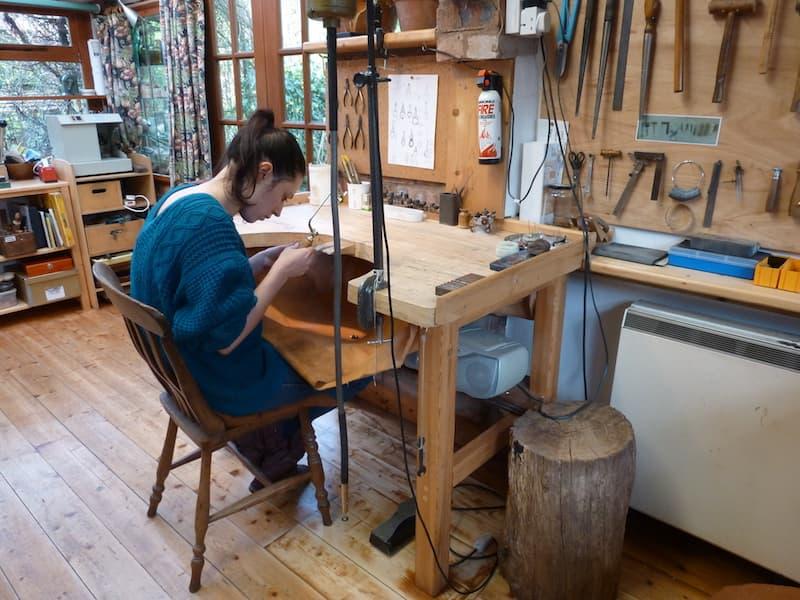 Jewellery Workshop Student | Glan Clwyd Isa